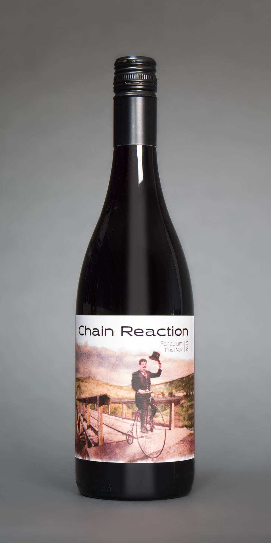 chain reaction pinot noir bottle